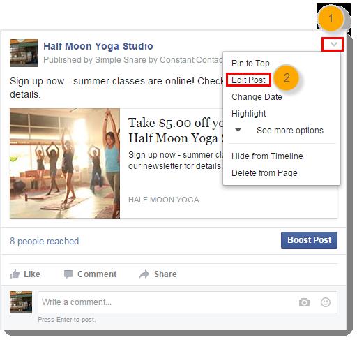 delete social post on FB