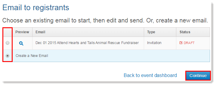 copy an invitation or event related email