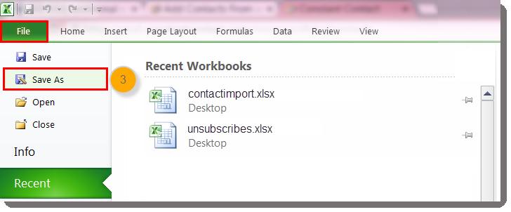 Saving an Excel File as a CSV File