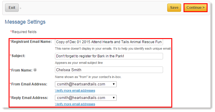 Copy an Invitation or Eventrelated Email – Email Invitation