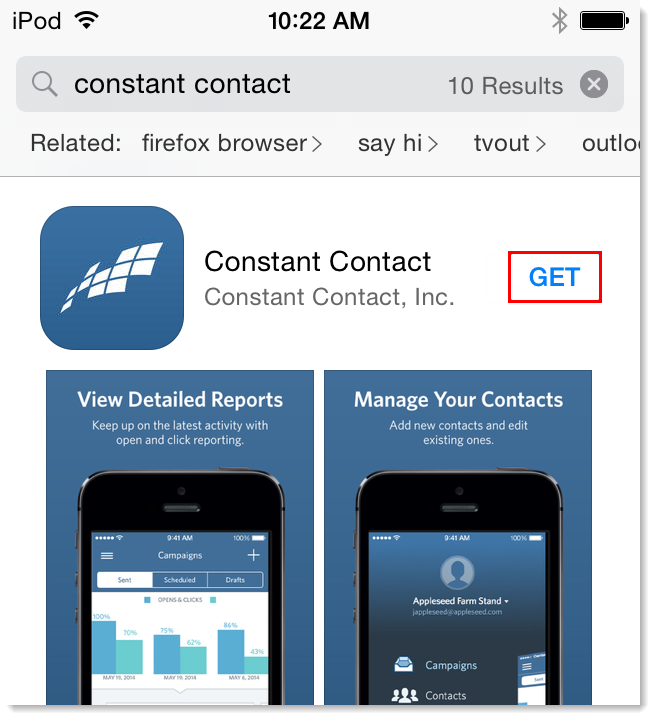 Download the Constant Contact Mobile App
