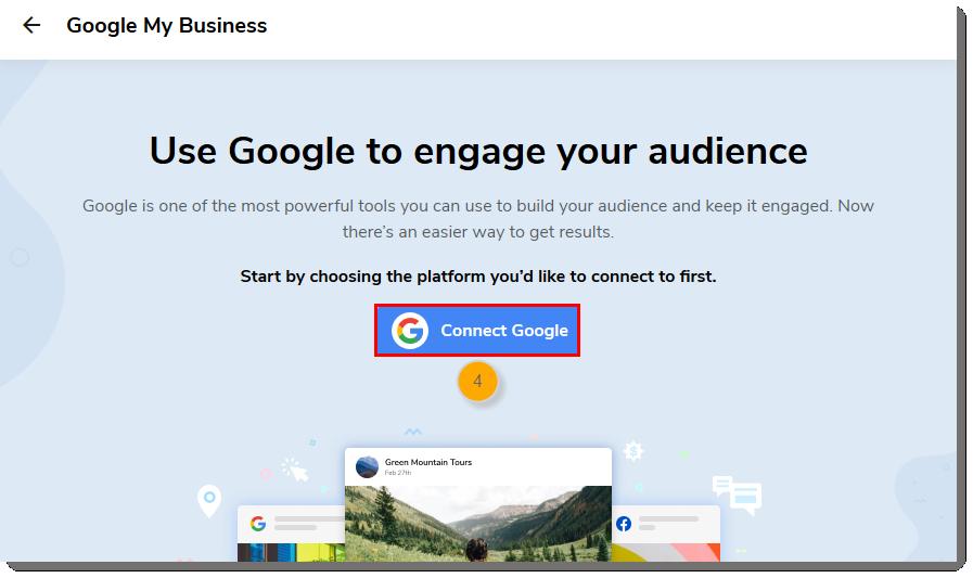 Connect Google button