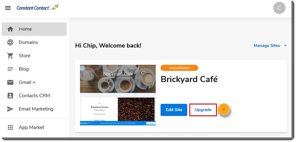 Upgrading Your Website Builder Plan