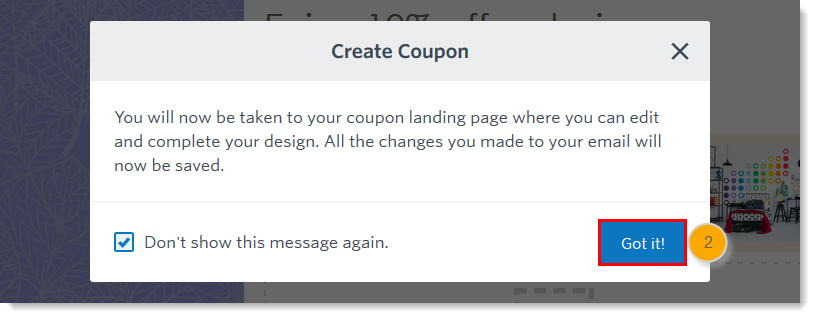 Add A Trackable Coupon To An Email Created With The Third Generation