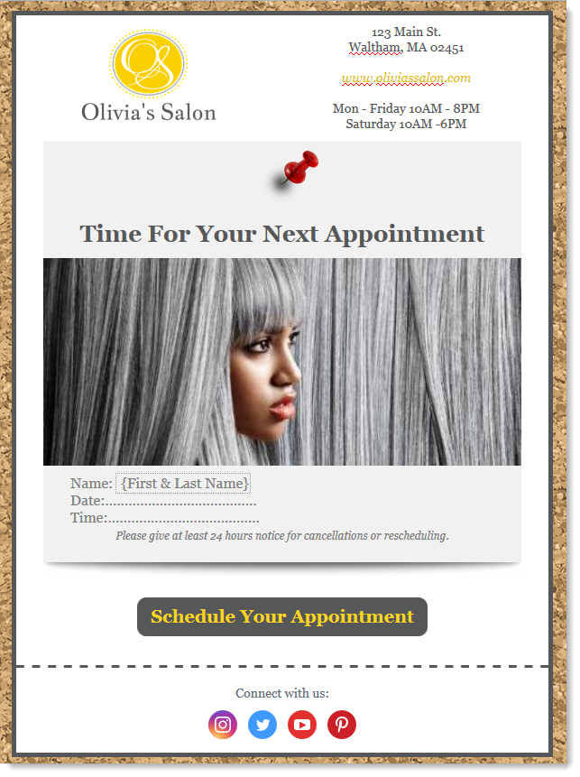 Example Appointment Reminder