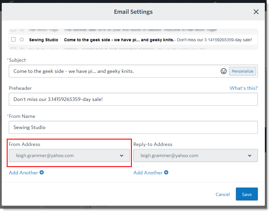 Bounces or Blocks Caused when Using a Free Email Account as