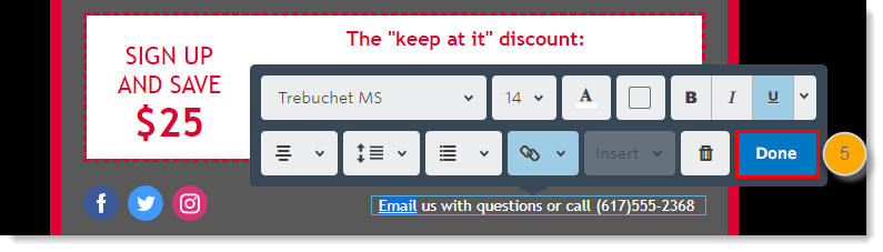 Add a Mailto Link in an Email