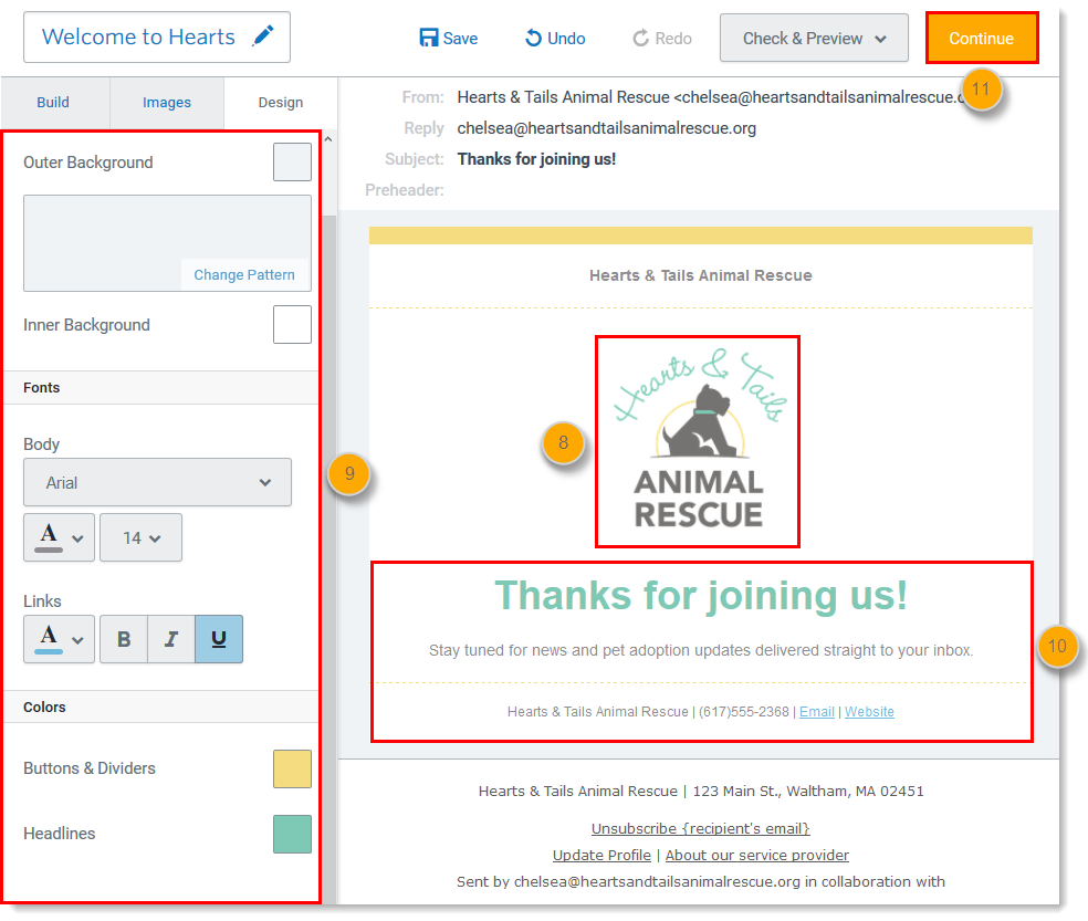 Create a Welcome Email