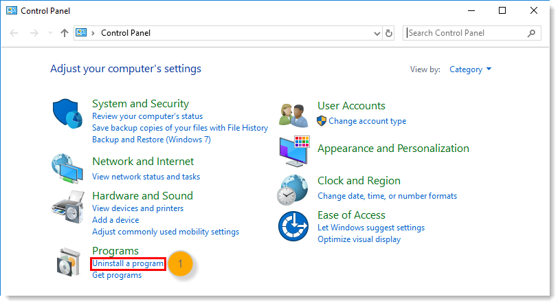 Uninstall the Constant Contact Outlook Desktop Add-in from Microsoft