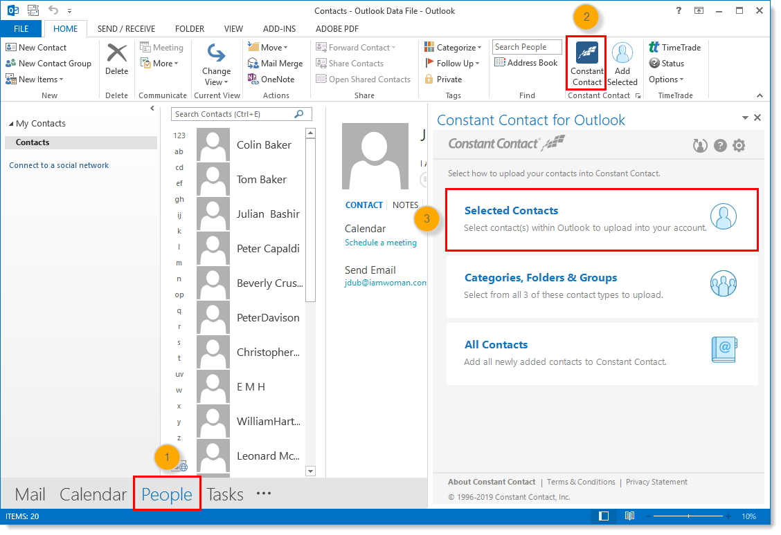 Automatically Export Contacts Out of Microsoft Outlook with