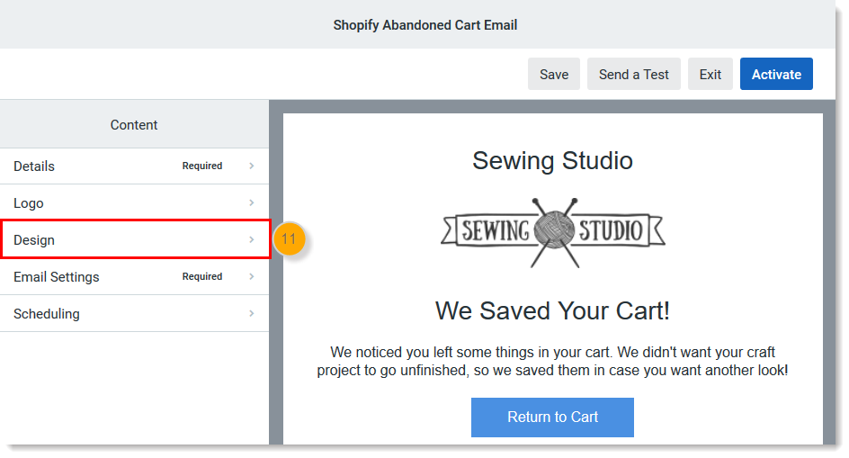 Create an Automated Abandoned Cart Reminder Email for