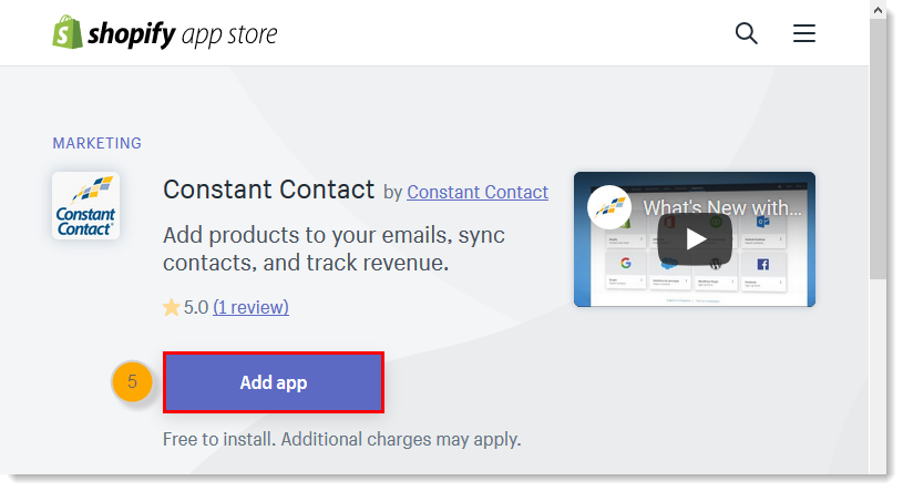 Connect Your Shopify Account to Constant Contact