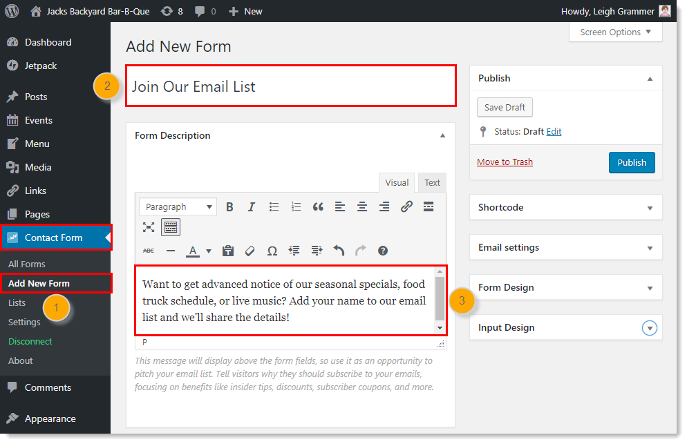 Create a Contact Sign-up Form with the Constant Contact Forms for