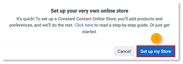Set up my Store Button
