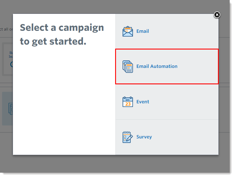 Email Automation Option Select Birthday