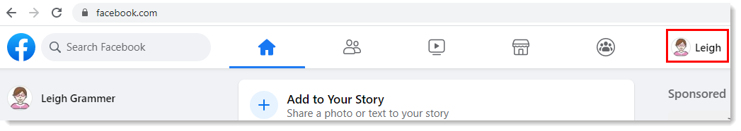 find FB profile name