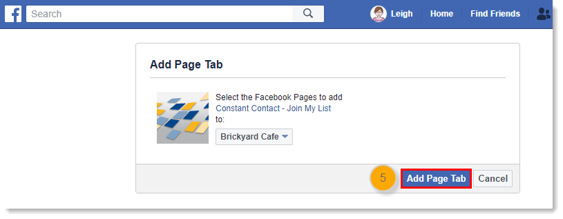 Add the Join My List App to a Facebook Business Page to
