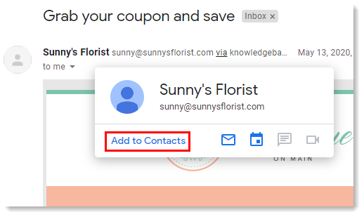 Gmail Apps Dropdown Contacts