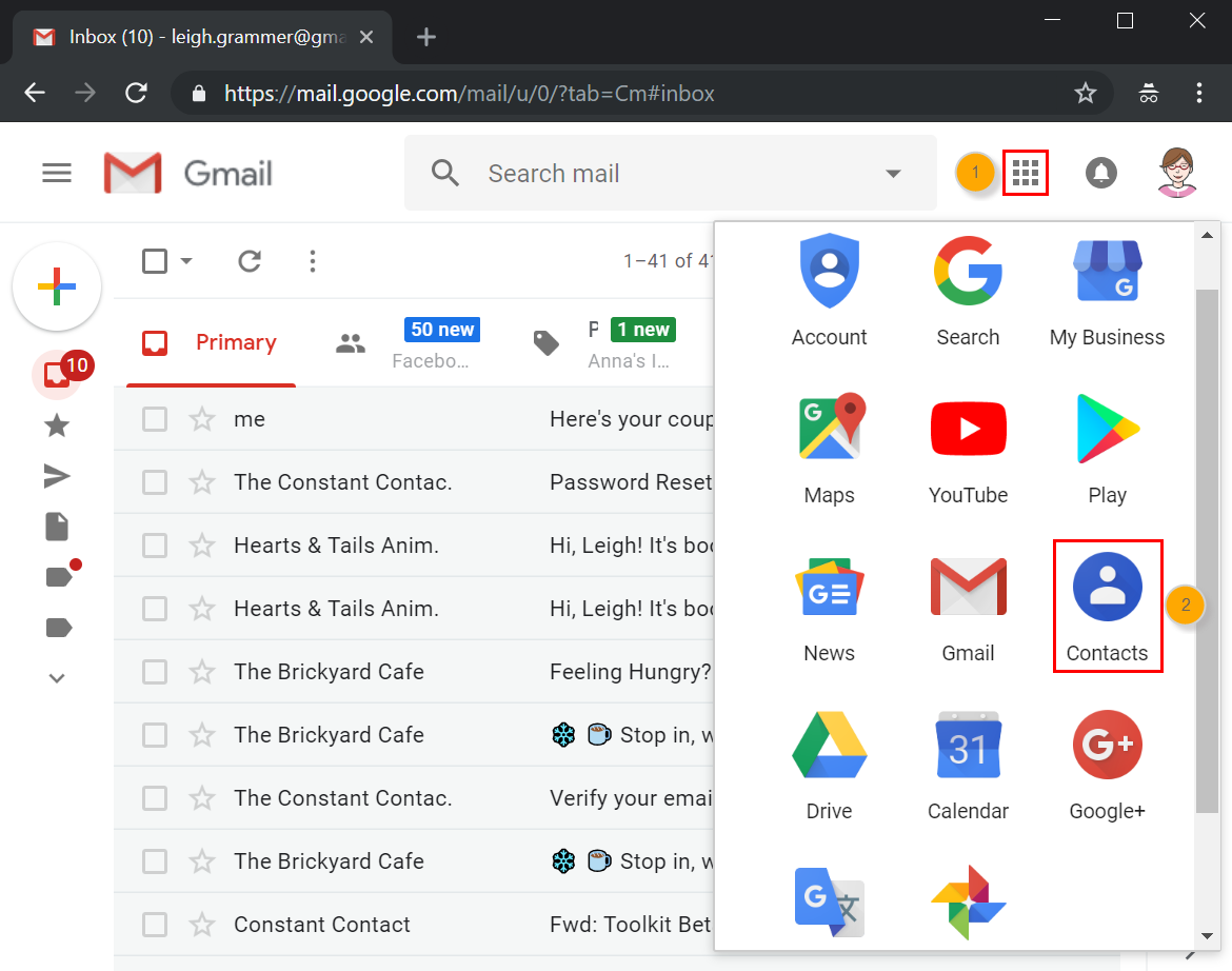 Import Google Contacts into Constant Contact
