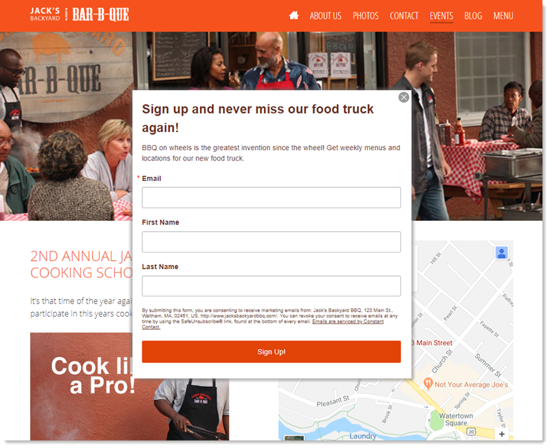 Pop-up Sign-up Form