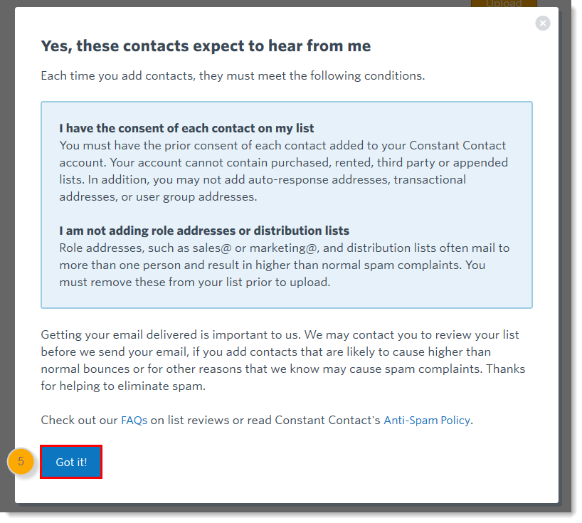 Upload a Contact List into Constant Contact from a File or