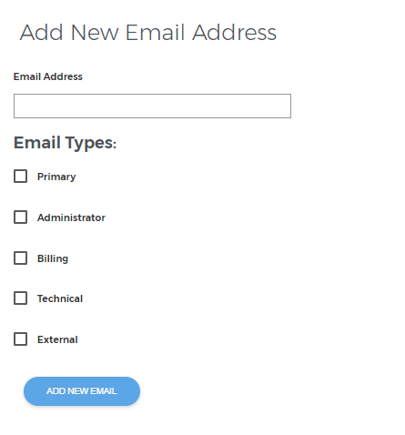 Add user email types.
