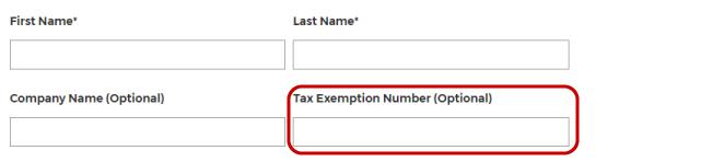 Tax ID fields.