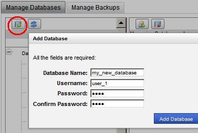 Navigate to MySQL Database