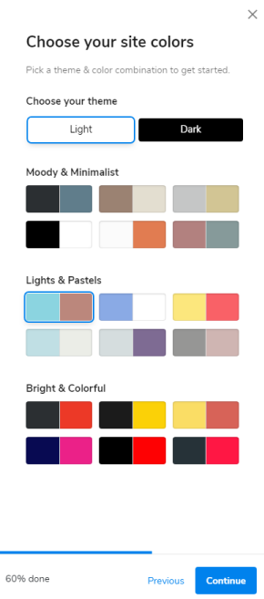 Choose your site colors