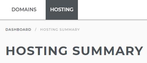 Hosting Tools link