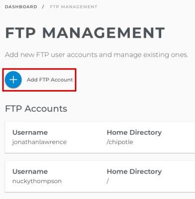 Add an FTP user