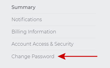 Click on change password