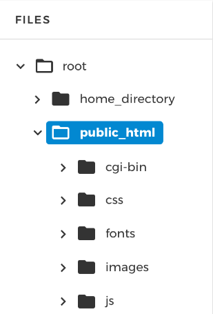 Hosting file tree structure