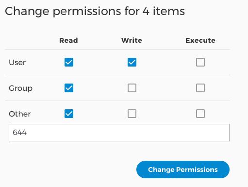 Change file or folder permissions