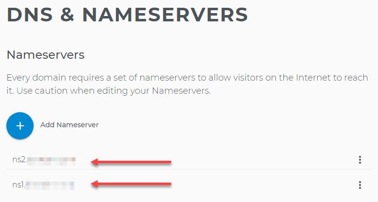 Default nameservers