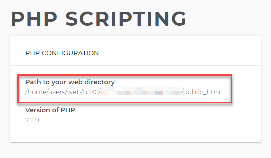 Default web path
