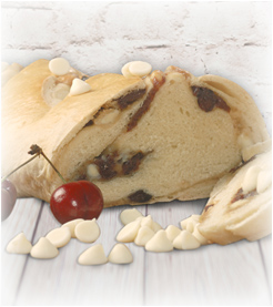 White Chocolate Cherry Swirl Bread