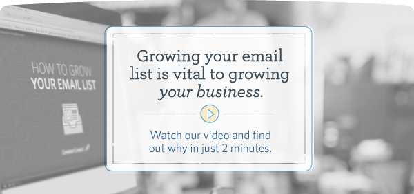 Growing your email list is vital to growing your business. Watch our video and find out why in just 2 minutes.