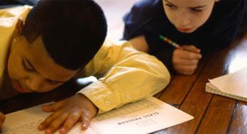 Kids Doing Schoolwork