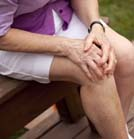 woman with leg pain