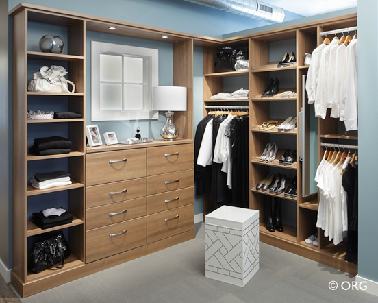Closet for her in Chateau finish