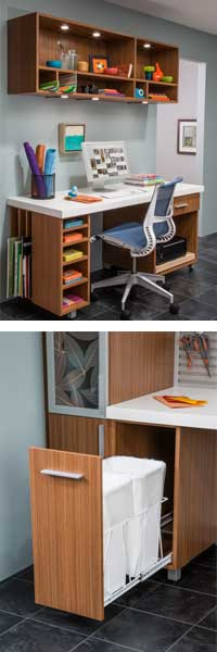 ORG Home desk and recycling center