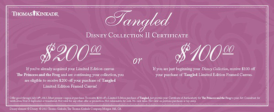 Tangled Gift Certificate