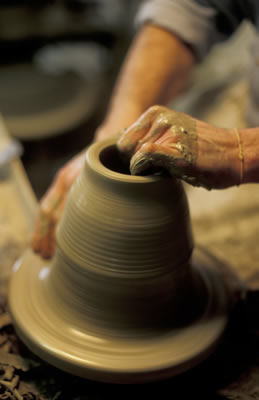 Hands on Potters Wheel