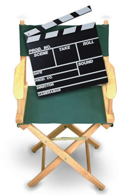 Film Director's Chair and Clapper