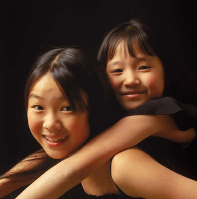 Happy Asian Sisters