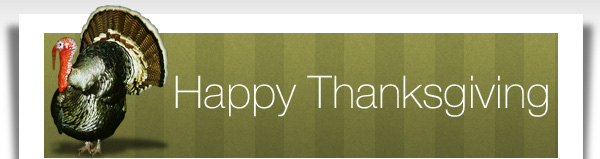 Happy Thanksgiving from all of us at GTOPI.com