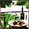 wine on porch