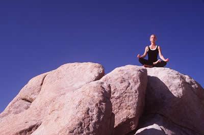 Outside meditation