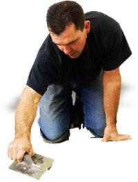man working on floor